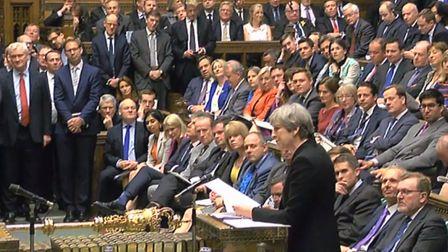 Theresa May speaks during Prime Minister's Questions in the House of Commons. Picture: PA Wire