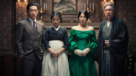 Min-hee Kim, Jin-woong Jo, Kim Tae-ri and Ha Jung-woo in Park Chan-wook's The Handmaiden. Picture: C