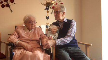 Peter and Vera Hutton on their anniversary. Picture courtesy of Kath Hutton.