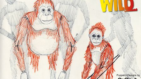 Puppet designs by Gyre and Gimble for the show Running Wild which is coming to Norwich Theatre Royal