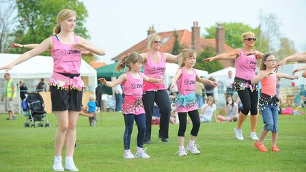 A dance performance at a previous Rose May Fete. Picture: James Bass.