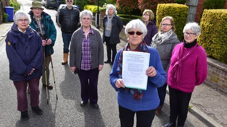 Residents are campaigning for a 20mph speed limit along Chediston Street in Halesworth. Picture: Nic