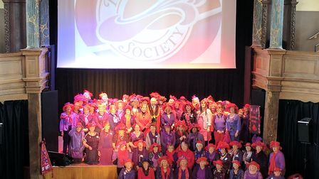 The Red Hat Society East Anglian chapters met at Great Yarmouth's St George's Theatre to mark the so
