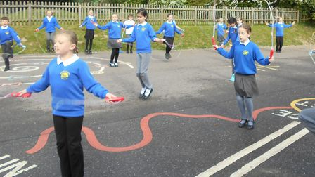 Daily skip on the playground first thing in the morning.Picture: St Mary's school in Roughton.