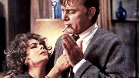 Richard Burton and Elizabeth Taylor appearing together in their celebrated roles in Who's Afraid of