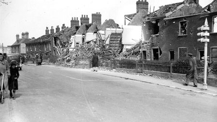 Waterloo Road looking from Magpie Road junction. Dated: 28th April 1942. Photo from Archant Library.