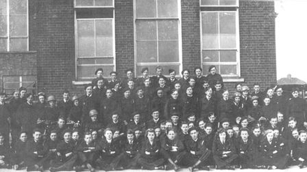 Civil defence messenger service, Angel Road School, Norwich. Date: 1943. Picture: Supplied