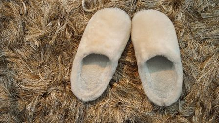 A Generic Photo of a pair of slippers on a fluffy carpet. Picture: PA Photo/thinkstockphotos