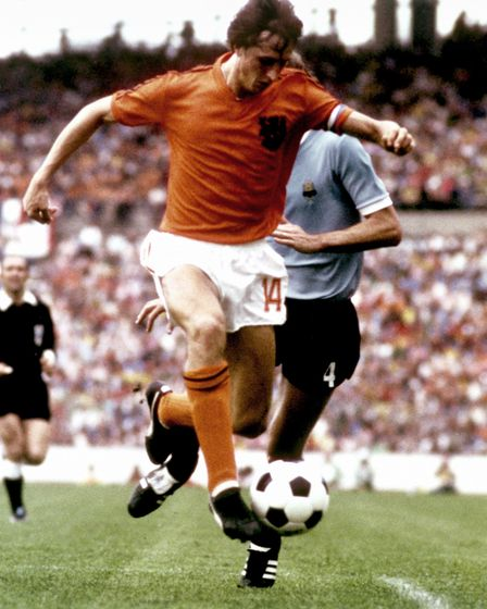 Johan Cruyff, the father of total football. Picture: PA/PA Wire.