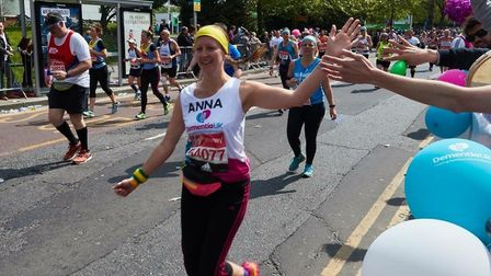 Police officer Anna Howman, from North Walsham, who completed the London Marathon in 5hrs 32mins for