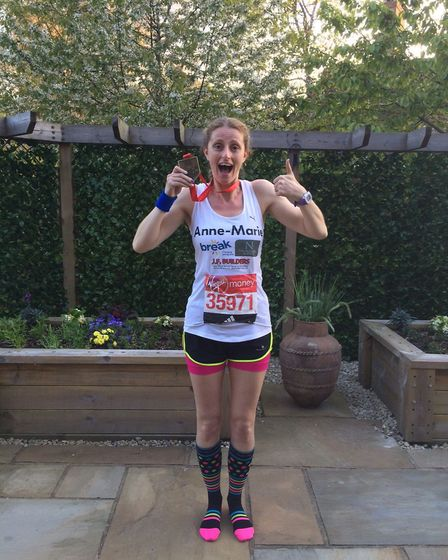 Anne-Marie Chilvers, from Colkirk, who raised �3,762 for Break by completing the London Marathon in