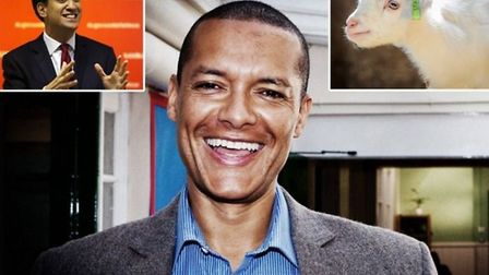 Clive Lewis has apologised for his comments about a goat (right) and the Labour leader Ed Miliband.