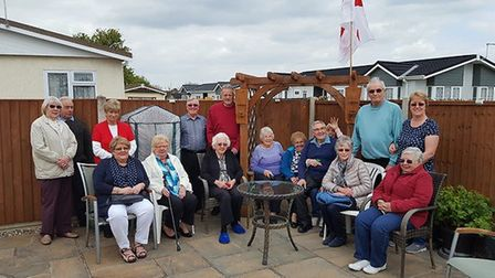 Residents of Oak Tree Park in Attleborough gather for the bake-off. Picture: Peter Beauchamp