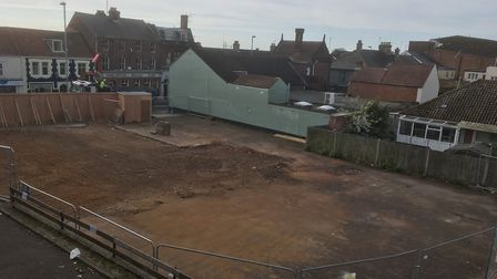 The site of the new Wetherspoon's in Gorleston has been cleared ready for a new building to be const