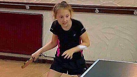 Darcy Brewer in action playing table tennis. Photo: Debbie Brewer