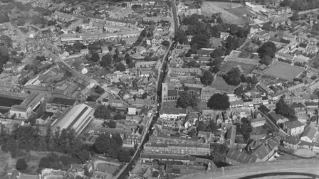 An aerial picture of Thetford taken on September, 14 1963. Picture: Archant Library