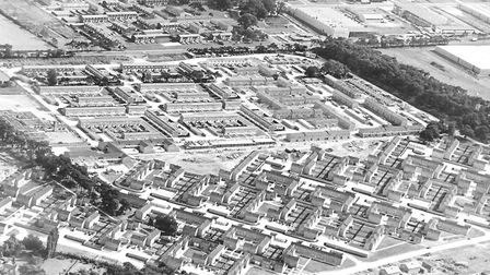 This picture taken on August 5 1967, shows the housing boom in Thetford. Picture: Archant Library