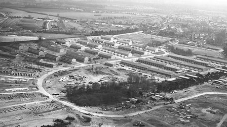 Thetford aerial view of housing being built taken on April 30 1969. Picture: Archant Library