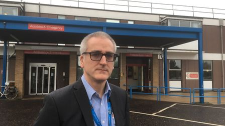 Graham Wilde, chief operating officer of the James Paget Hospital.