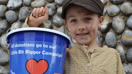 Oliver cast member Libby Partridge asking for more… generous donations to help the Sheringham Little