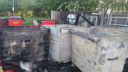 The fire at Catton Grove Primary School, which was started on Sunday, April 23. Picture: Catton Grov