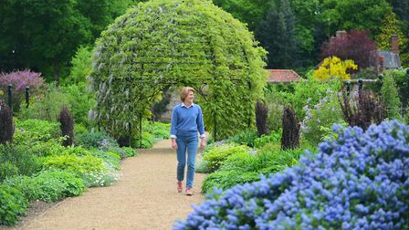 The gardens at Lexham Hall are in full bloom. Pictured is Anthea Foster. Picture: Ian Burt
