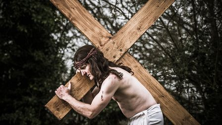 John Mules will play Jesus in the passion play in Reedham. Picture; James Bass Photography