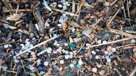 An example of nurdles which have washed up on Britain's beaches. Photo: Natalie Welden/PA Wire
