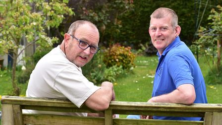 Parkinson's Awareness week feature with Will Bromley (blue top) and his partner Neil Judges who suff