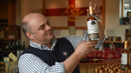 St George's Distillery, home of The English Whisky Company. Andrew Nelstrop with their new whisky, T