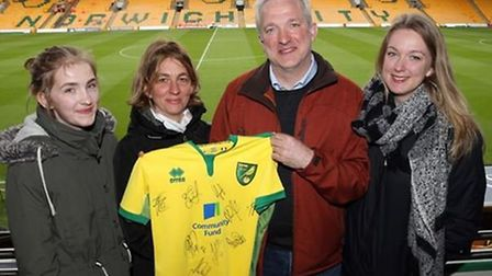 Norwich Ruesse visited Carrow Road with his family on Good Friday, watching City take on Fulham. Pic