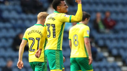Josh Murphy was on target in Norwich City's 3-1 Championship win at Preston. Picture: Paul Chestert