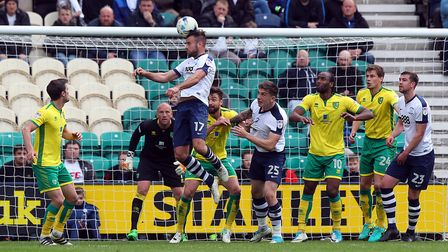 Tommy Spurr of Preston North End scores his sides 1st goal during the Sky Bet Championship match at