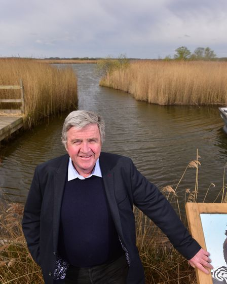 Norfolk Wildlife Trust CEO Brendan Joyce at Hickling Broad. 'This is an exceptional response by o
