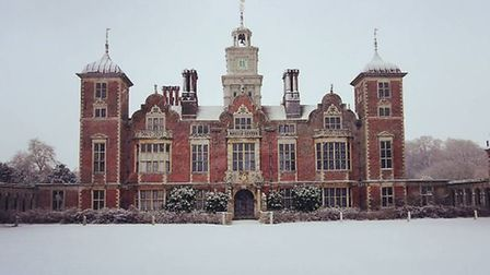 First snowy shot of the year at Blickling Hall