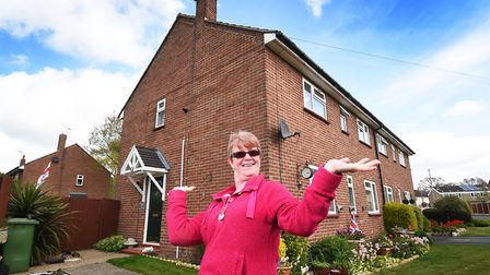 Jane Algar pictured at her house which she bought 10 years ago. Picture: ANTONY KELLY