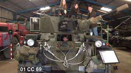 The Button family, from Diss, enjoying one of the Cold War tanks at the Norfolk Tank Museum. Picture