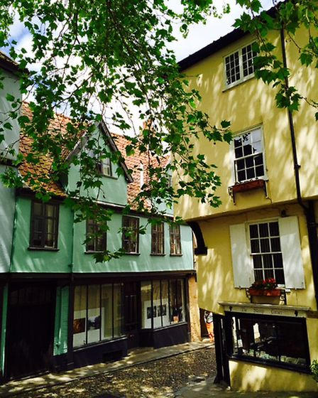 Beautiful Elm Hill in the early summer sunshine