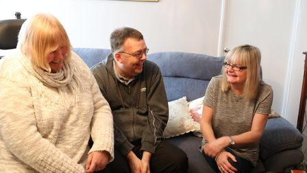 Deborah and Mark Taylor, from Thetford, who with their St Nicholas Hospice Care hospice neighbour Ky