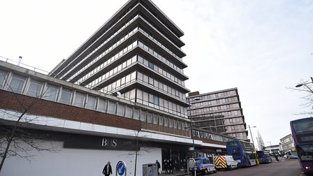 The former BHS and Aviva buildings in St Stephens Street, Norwich. Picture: ANTONY KELLY