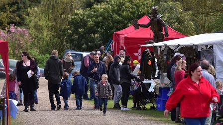 Easter fun in aid of the East Anglian Air Ambulance at the Norfolk and Suffolk aviation museum, Flix