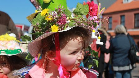 One of the bonnets on show at Sheringham Easter parade. Picture: KAREN BETHELL