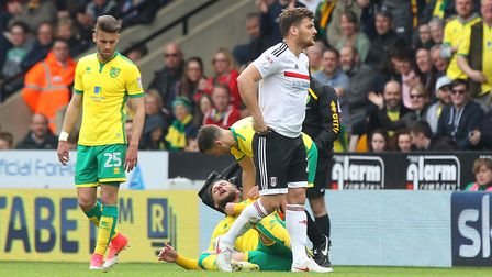 Chris Martin could miss most of Fulham's run-in after his red card. Picture: Paul Chesterton/Focus I