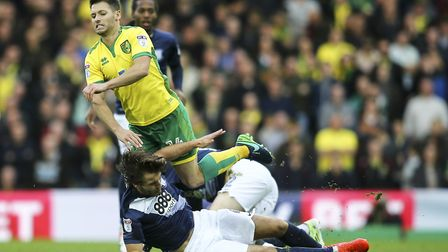 Wes Hoolahan came in for special treatment by Preston at Carrow Road this season. Picture: Andy Kear