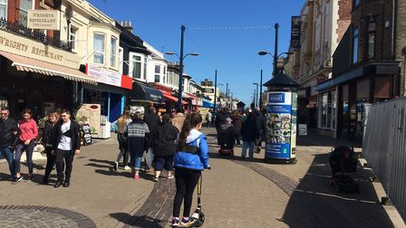 Regent Road, Great Yarmouth, was busy through the four days. Picture: Anthony Carroll
