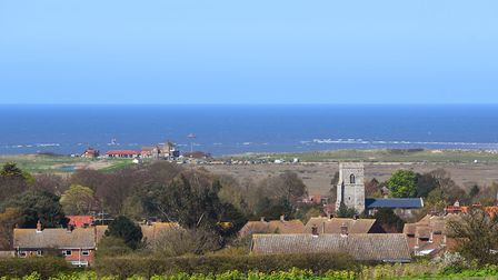 A view of Brancaster beach and golf club, from the top of Mill Hill. Picture: Ian Burt