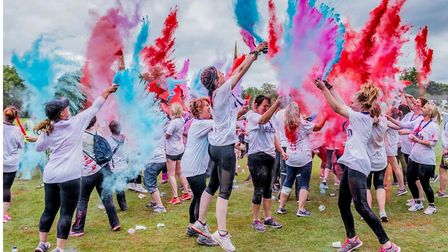 A previous Colour Dash event hosted by East Anglia's Children's Hospices. Picture: Matthew Usher Pho