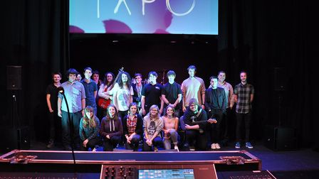 Production arts students from City College Norwich exhibit their work at a Techincal Arts Expo (TXPO