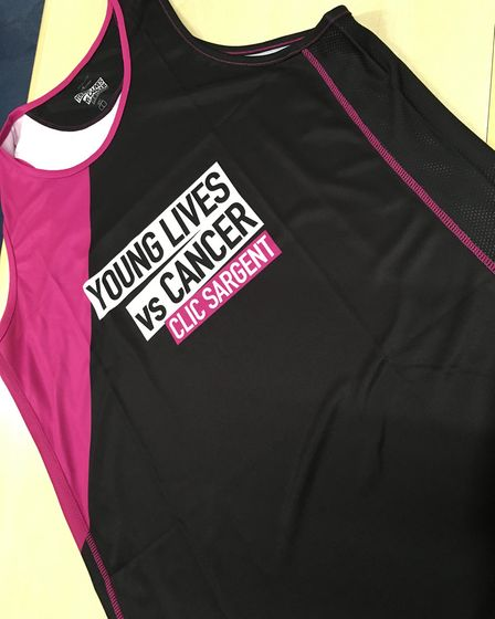 The vest Mr Dade plans to wear in this year's London Marathon. Picture: Richard Dade