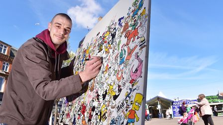Yarmouth artist, Carl Wright, is looking to create artwork around the town.